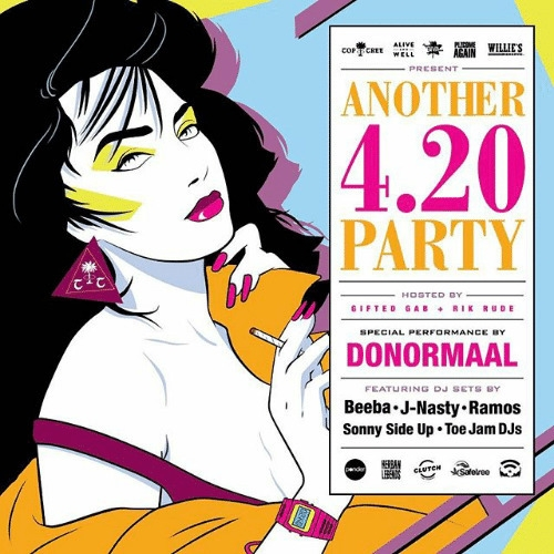 4.20 Party - Patrick Nagel styl - johnperlock_illustrator | ello