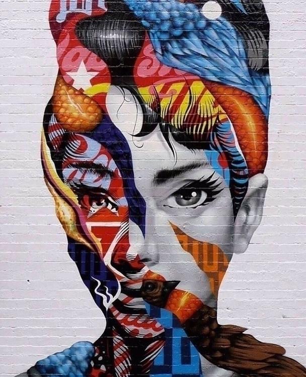 Beauty Audrey  - streetart, graffiti - bitfactory | ello