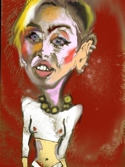 Miley Cyrus - illustration - giannisrallis | ello