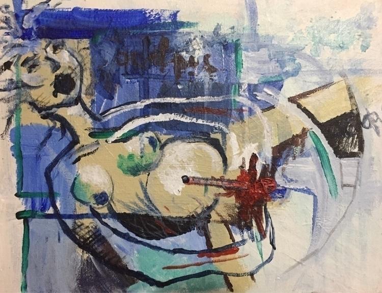 Aout/16 - painting#paint#pregnant#blue - nellie380 | ello