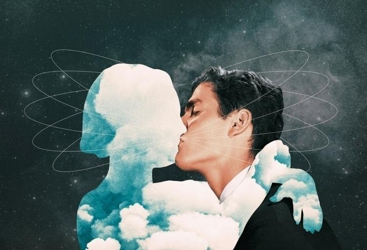 Cosmic Kiss (2017 - collage, digital - julienp | ello