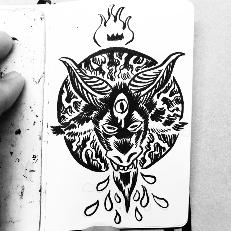 Satan Friday - pentagram, tgif, ink - royallyeric | ello