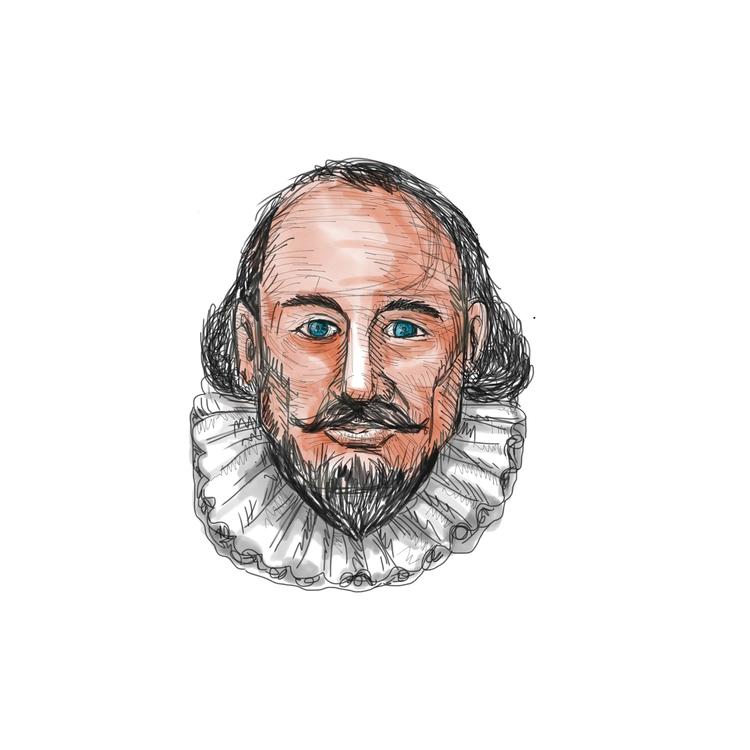 William, Shakespeare, Head, Watercolor - patrimonio | ello