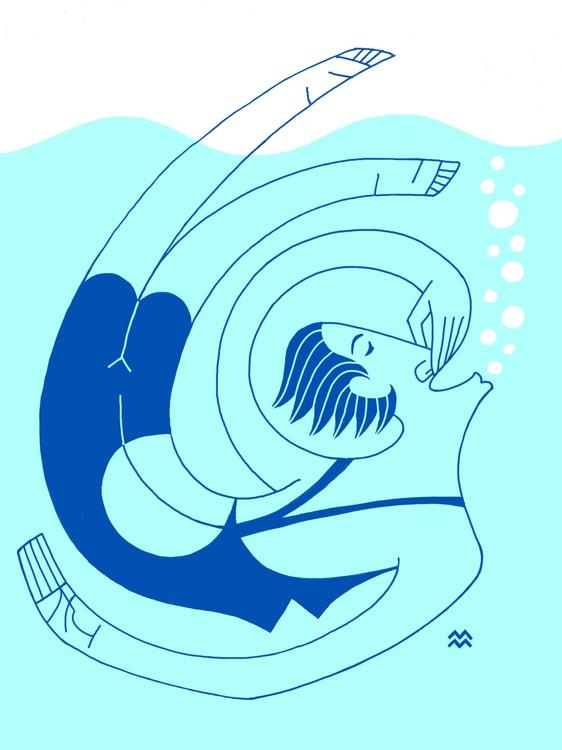 underwater flips - miriamdraws - miriamdraws | ello