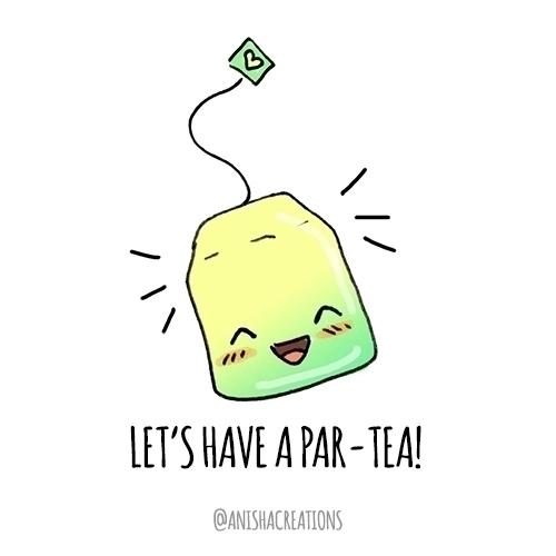 part-TEA - cute, illustration, funny - anishacreations | ello