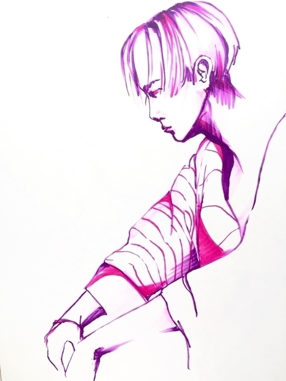 sketch, illustraition, wonho - jbyjane | ello