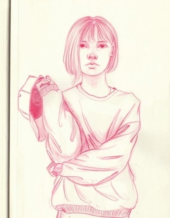 wait bust sweatshirts - doodle, sketch - j0eyg1rl | ello