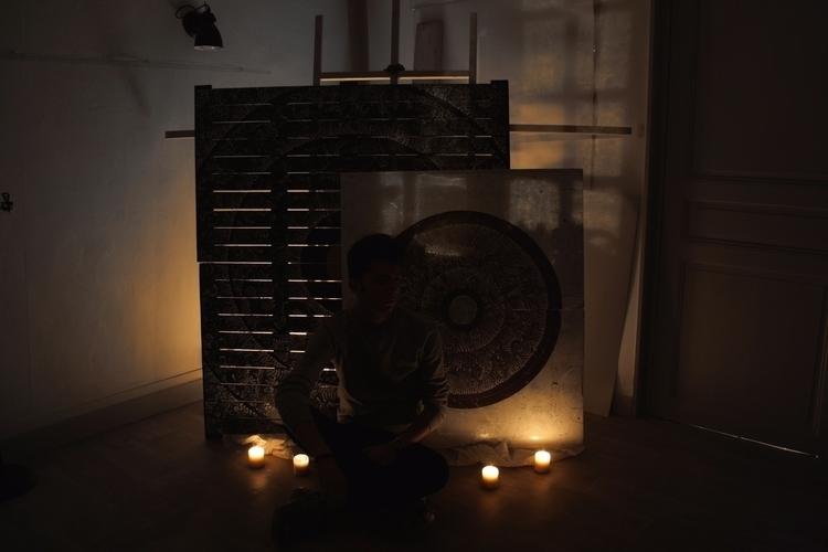 Meditation panels ? blackness.  - yellabor | ello