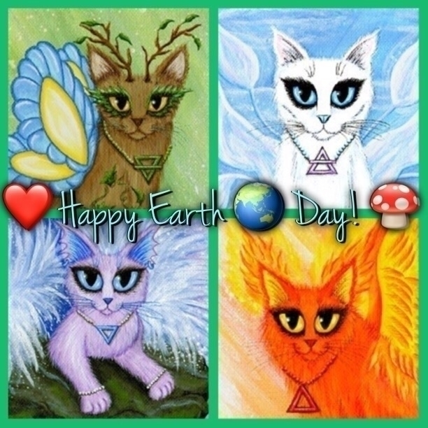 Happy Earth Day Caturday :heart - tigerpixie | ello