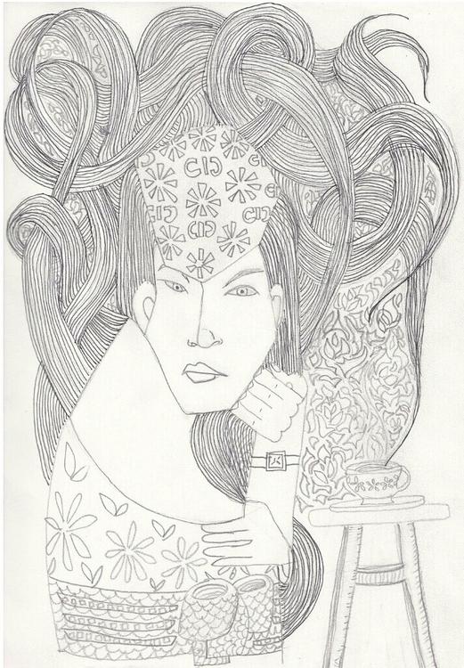 TeaTime - pencil, illustration, art - jearhee | ello