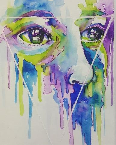 watercolour portrait 16 :) mess - finnireland   ello