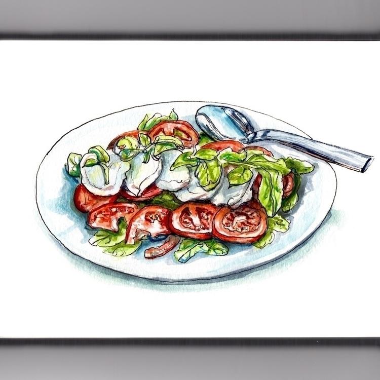 Salad Season - watercolor, watercolour - doodlewash | ello