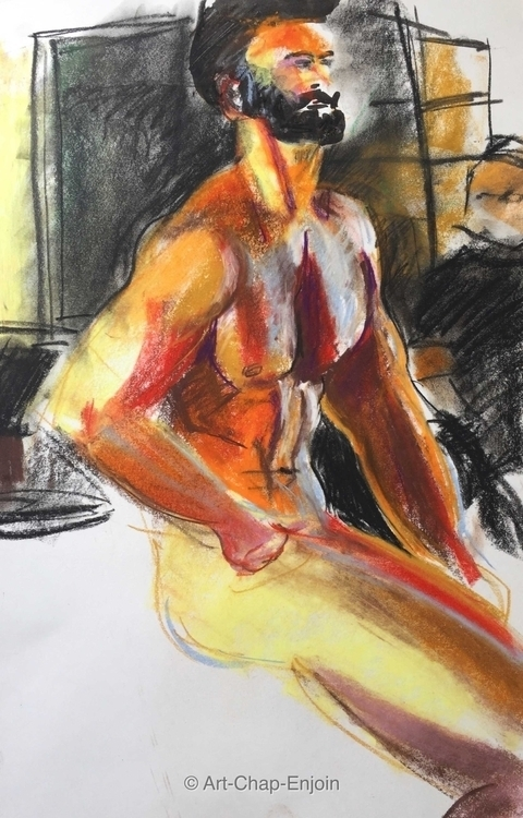 - Life drawing joined Drawing S - artchapenjoin | ello