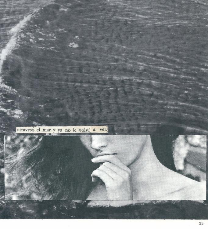 Atravesó el mar, collage hecho  - annitaklimt | ello