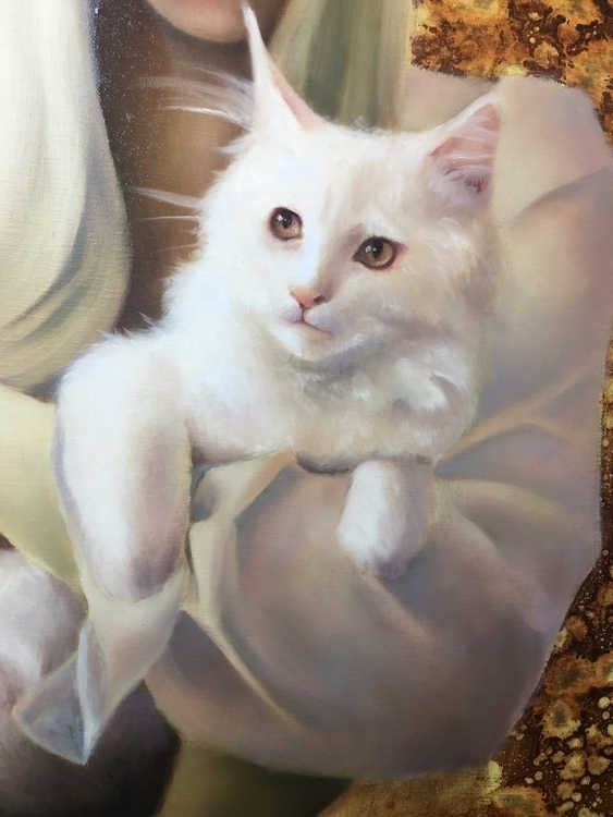 Kitten progress - art, oilpainting - ericacalardo | ello
