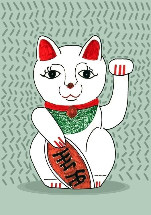 Maneki-neko 招き猫 Japanese Lucky  - nigli | ello