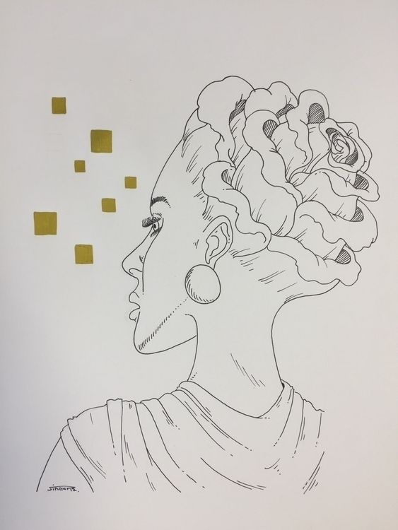 La femme rose - illustration, art - jimmy-draws | ello