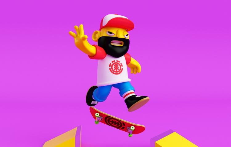 Kick Push :) Follow  - 3D, skate - oscarasecas | ello