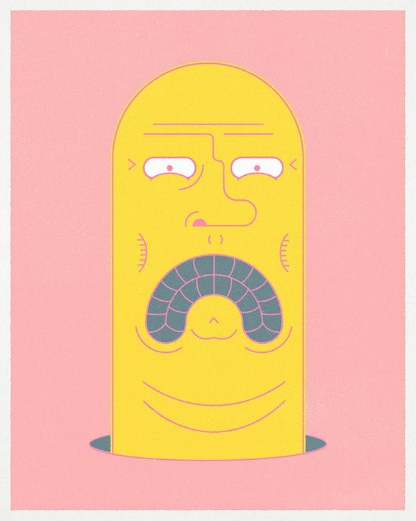 Worm - art, character, design, illustration - wheelchairjimmy | ello