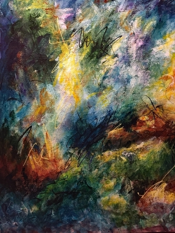 Fungal Boogie Acrylic canvas 40 - geralyninokuchi | ello