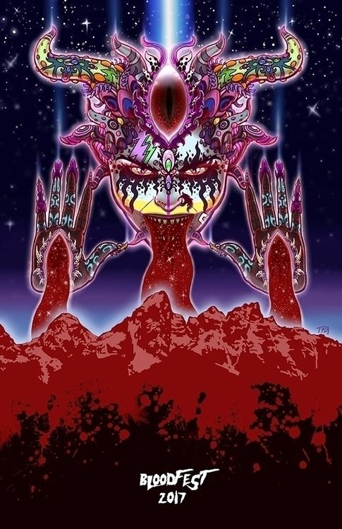Bloodfest Colorado promo poster - timlukowiart2 | ello