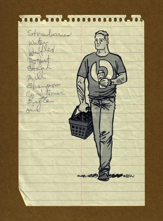 Shopper - illustration, grocerylists - bruceworden   ello
