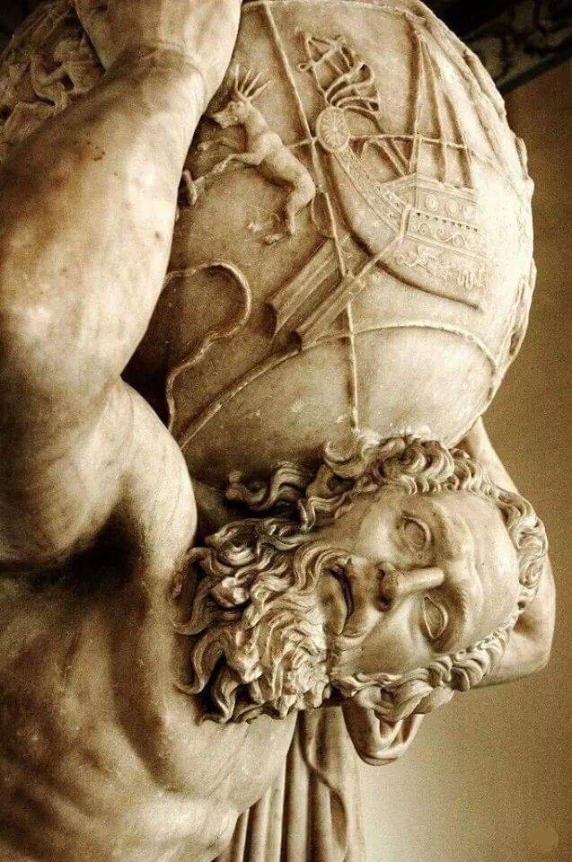 Farnese Atlas, detail, 2nd cent - arthurboehm | ello