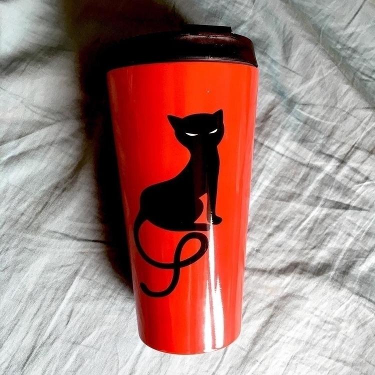 Metal travel mug evil kitty Soc - borianag | ello