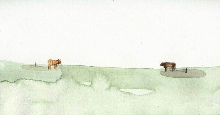 cows empty field - alinabradu | ello