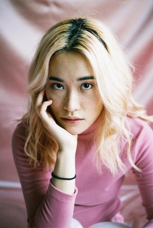 Pink - film, 50mm, yashica, portrait - ericbico | ello