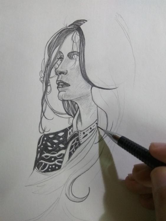 foray pencil sketching - illustration - valiullah1990 | ello