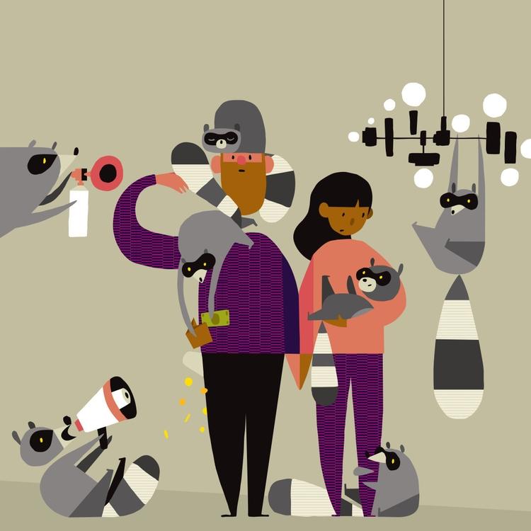 raccoons parents magazine. (twe - ebencom | ello