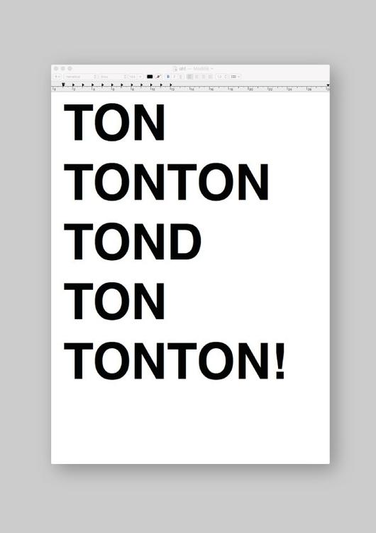 Ton tonton tond ton (fr) uncle  - benja_d | ello