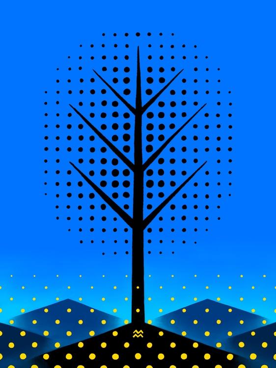 landscape tree: summer - miriamdraws - miriamdraws | ello