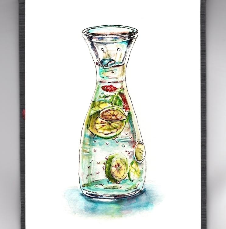 Sparkling Life - watercolor, watercolour - doodlewash | ello