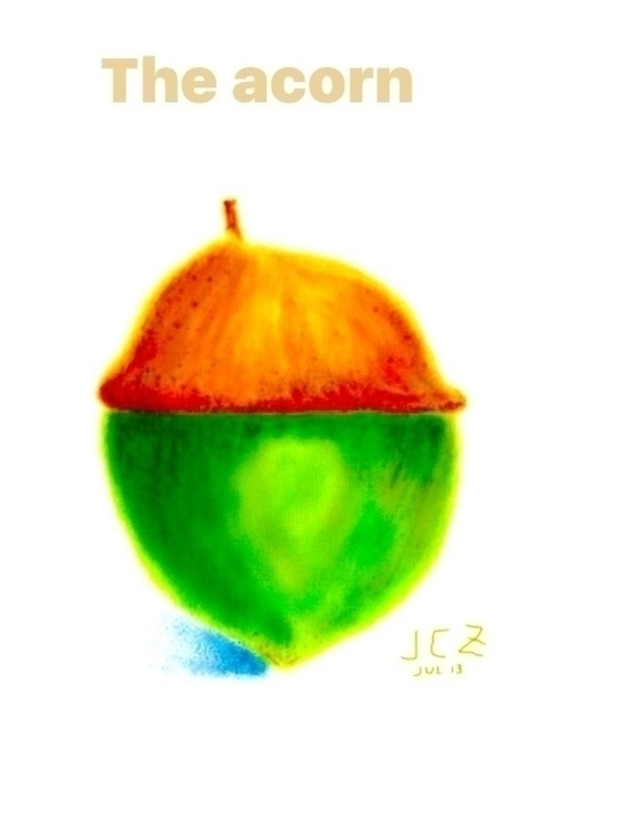 Filtered Acorn - acorn, sketch, digitaldrawing - iquitoz | ello