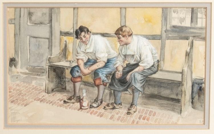 Hermann Vogel original framed w - godsotherson | ello