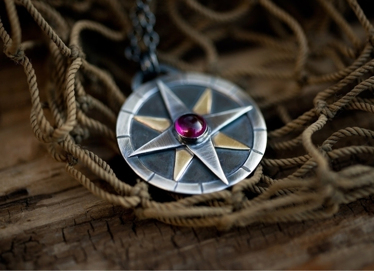 Handcrafted compass sterling si - weatherbeatendesigns | ello