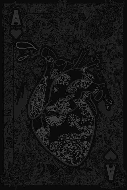 ACE HEARTS - LIMITED EDITION - illustration - justblack | ello