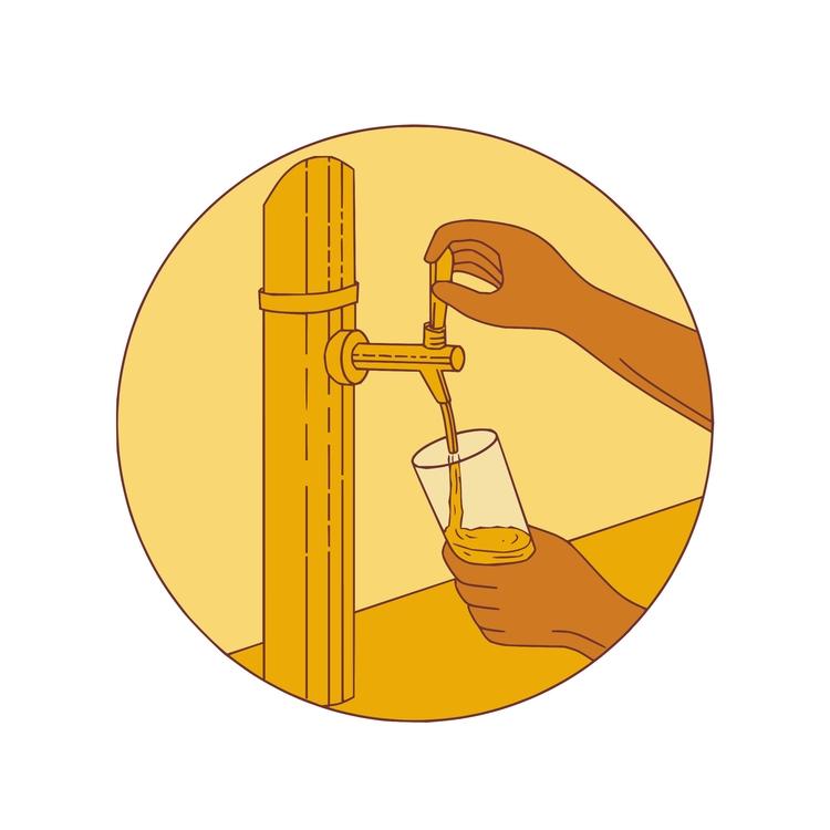 Hand Holding Pouring Circle - Glass - patrimonio | ello