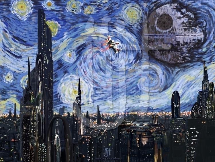 popular work. Inspired Star War - mjtillustration | ello