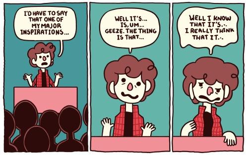 Public speaking death - comics, journalcomics - stepsoversnails | ello