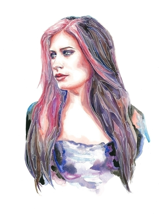 Rosa - art, painting, jessmeuse - avacarmenart | ello
