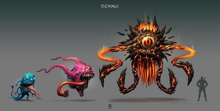 Demons - characterdesign, conceptart - boris_rogozin | ello