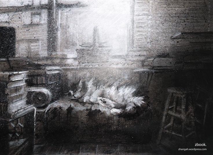 EYES: FINALE - illustration, sketch - zhangah   ello