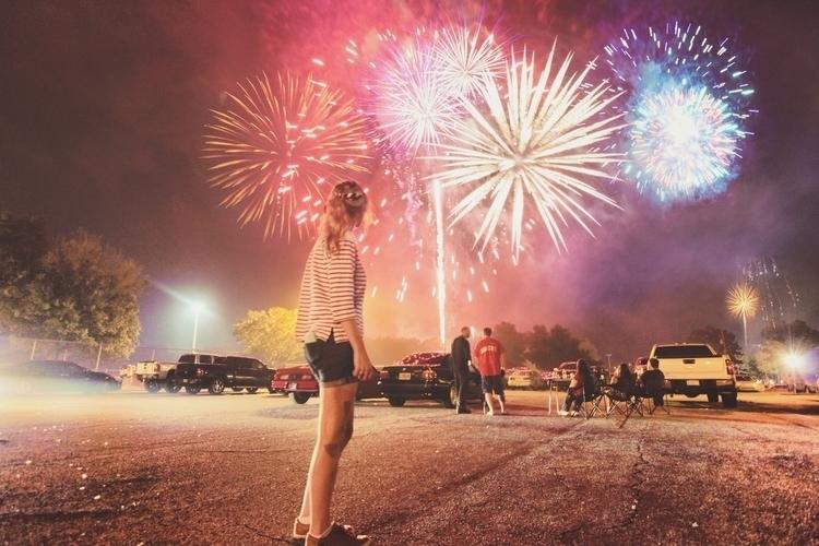 Fourth - fireworks, portrait, landscape - reneelouiseanderson | ello