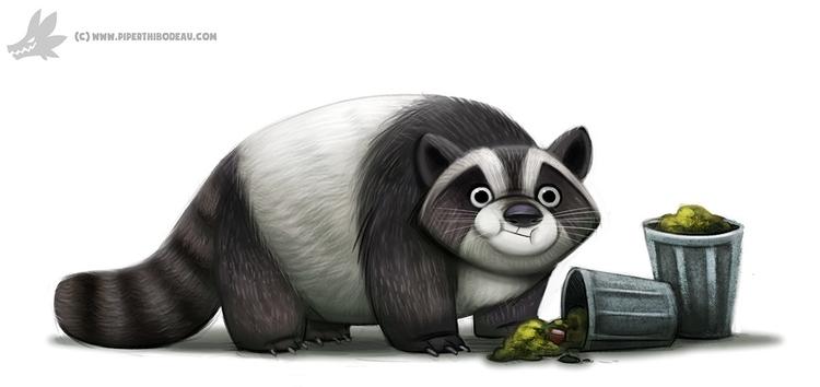 Daily Paint Trash Panda - 1012. - piperthibodeau | ello