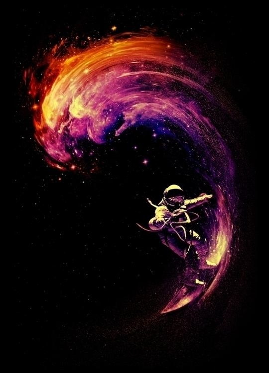 Space Surfing - astronaut, space - nicebleed | ello
