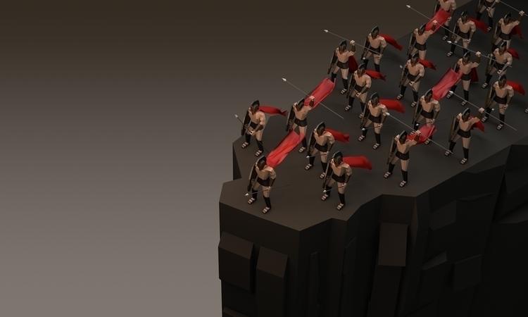 cliffs - lowpoly, 300, characterdesign - veej | ello