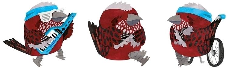 Pallas Rose Finch - PallasRoseFinch - clairestamper | ello